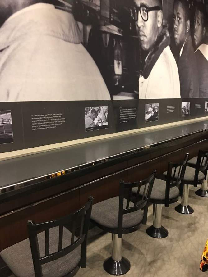 One of my FAVORITE things in the cafe was the lunch counter display. The curators of this museum were so innovative.