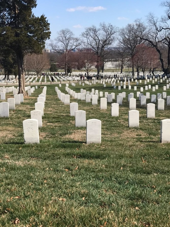 The precision of the tombstones at Arlington is really amazing.