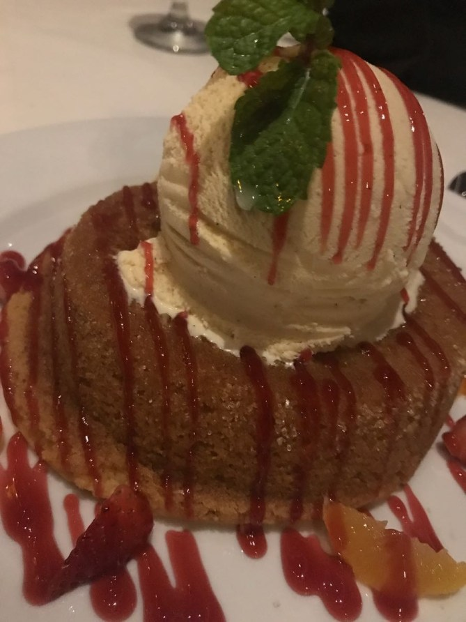 Dinner at Mastros- Warm Butter Cake 1