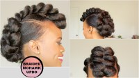 BRAIDED MOHAWK STYLE UPDO [NATURAL HAIR TUTORIAL] - Black ...