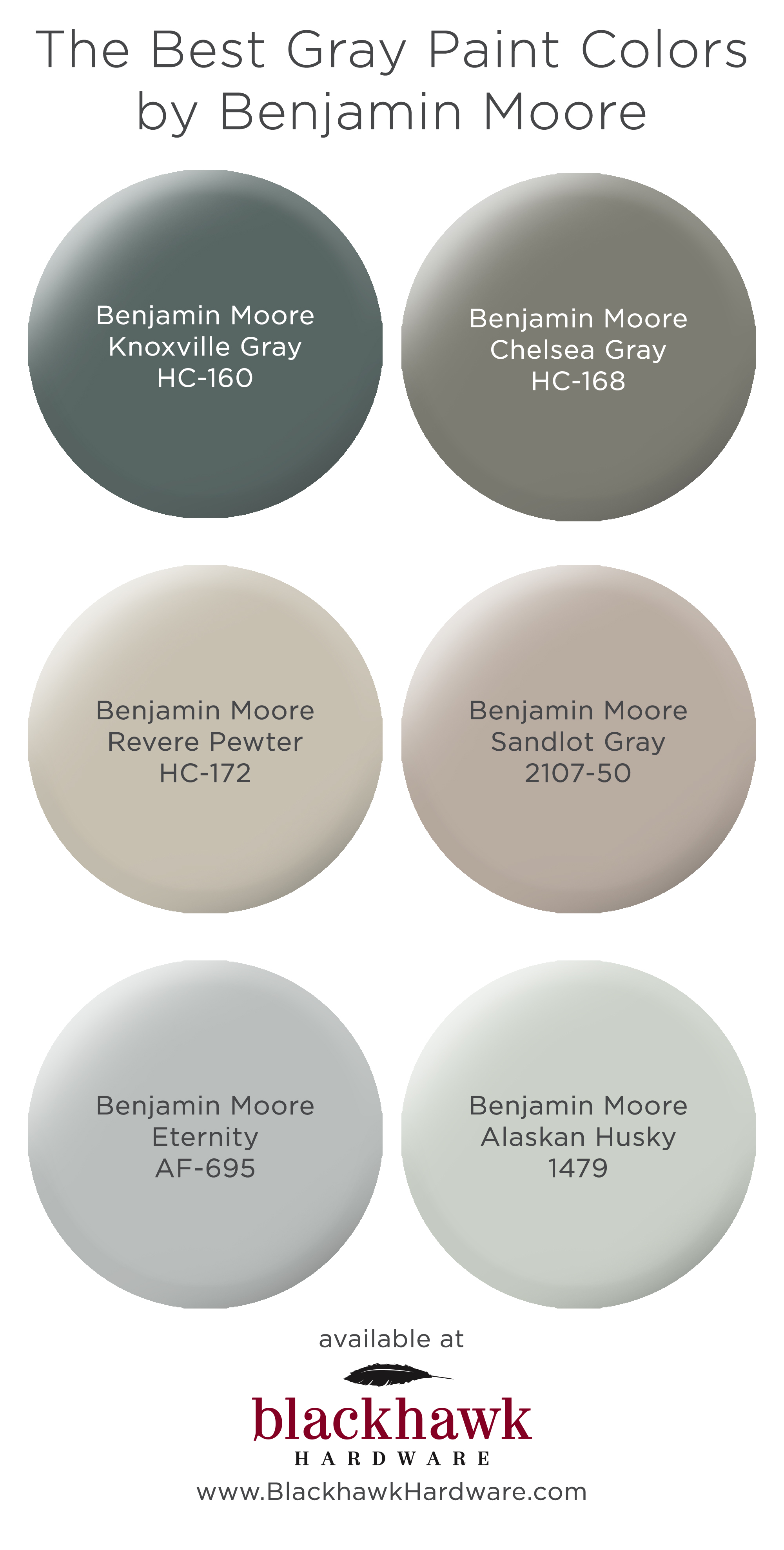 Best Benjamin Moore Gray Colors The Best Gray Paint Shades By Benjamin Moore Blackhawk Hardware