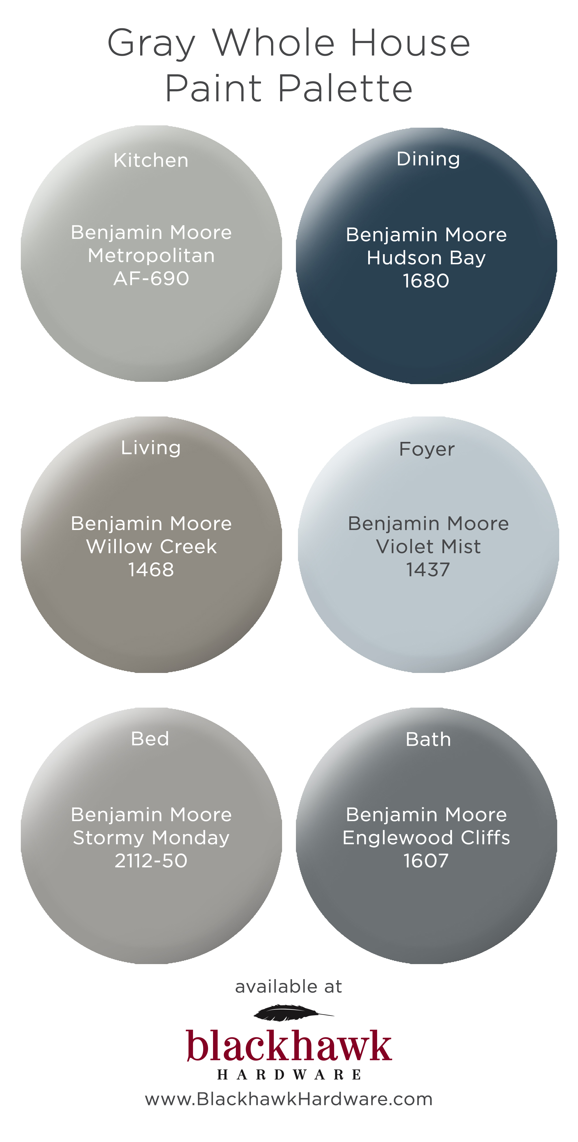Metropolitan Benjamin Moore Whole House Paint Palettes By Benjamin Moore Blackhawk Hardware
