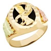 Landstrom's Mens Black Hills Gold 10K Eagle Ring with ...