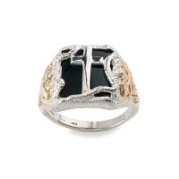Black hills gold men's eagle ring