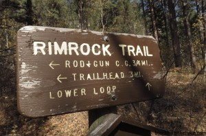 Rimrock Trail Sign Spearfish Canyon