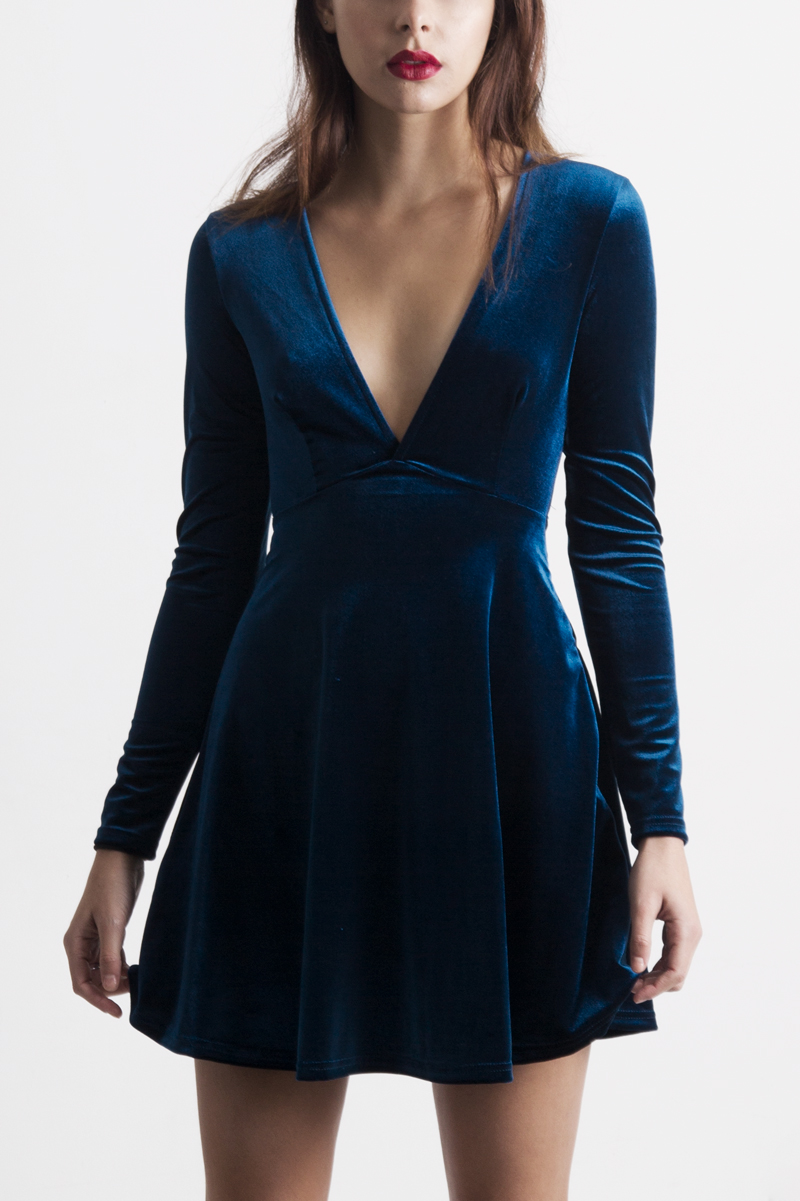 Fullsize Of Blue Velvet Dress