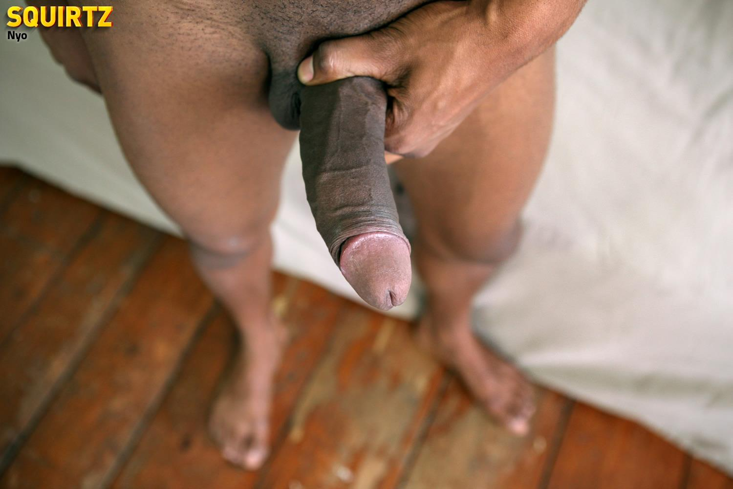 black cock shooting cum close up