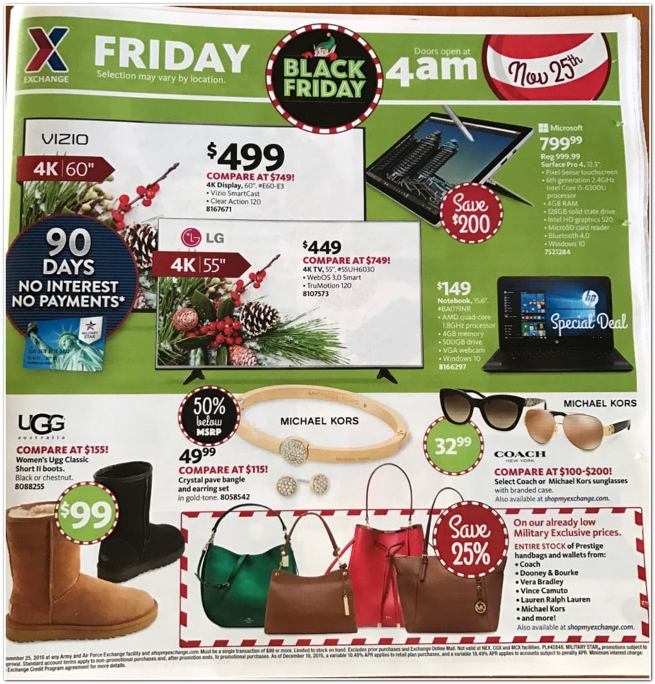 Aafes Black Friday Ad 2016