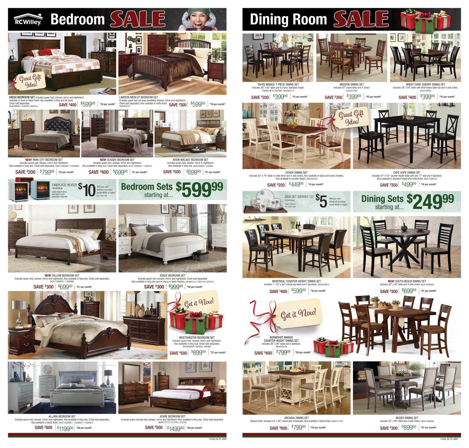 Furniture Sales Black Friday Rc Willey Black Friday Ad 2016