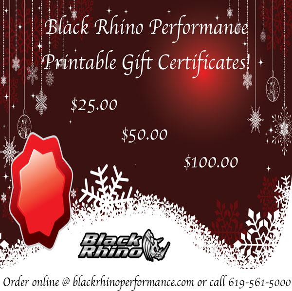 Black Rhino Performance Printable Gift Certificates Black Rhino