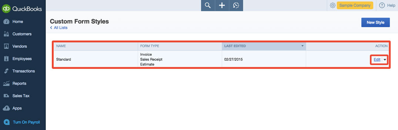 QuickBooks Online Customize Invoices BlackRock - customize invoice