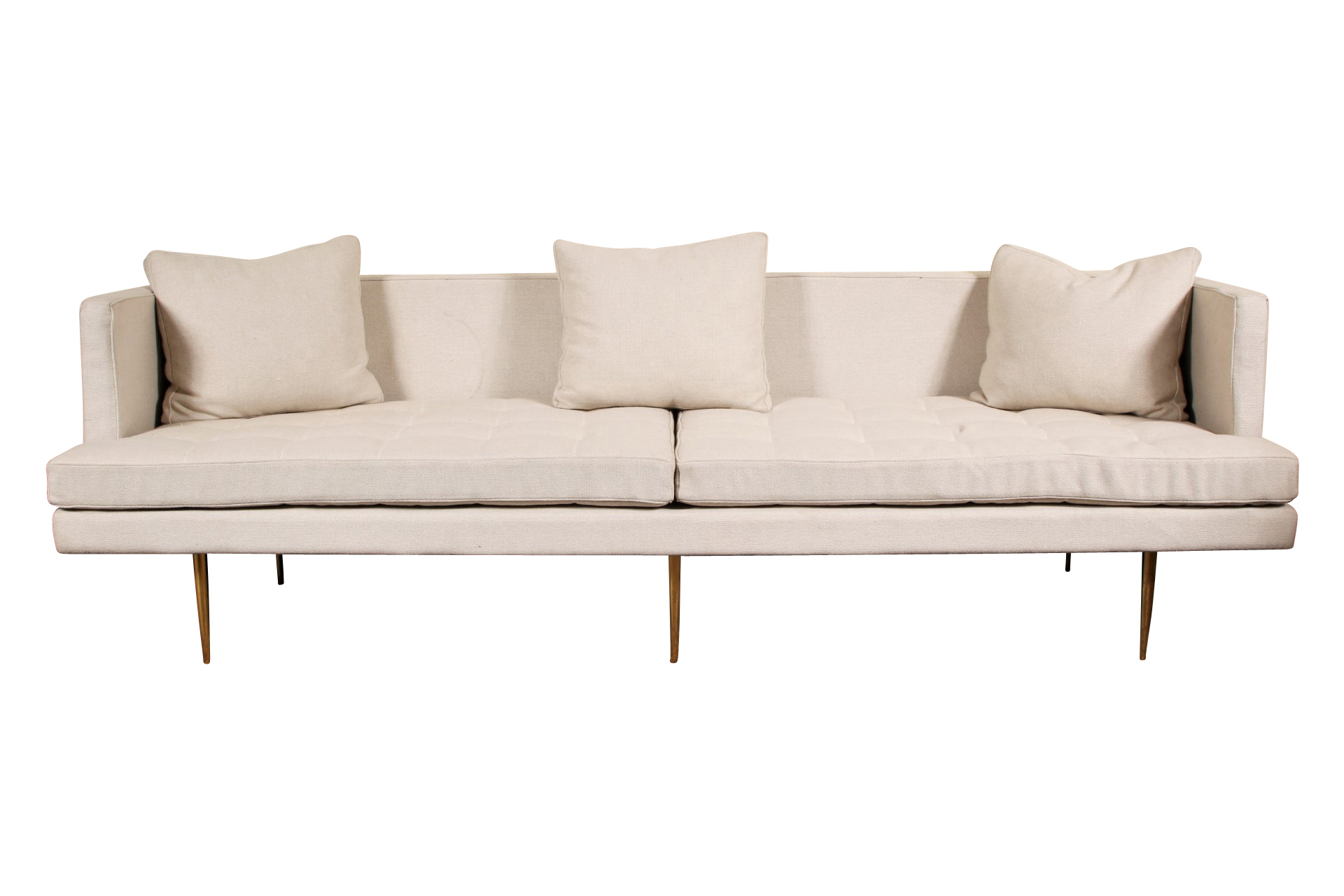 Sofa Legs Tall Modern Upholstered Sofa With Tall Brass Legs Black Rock