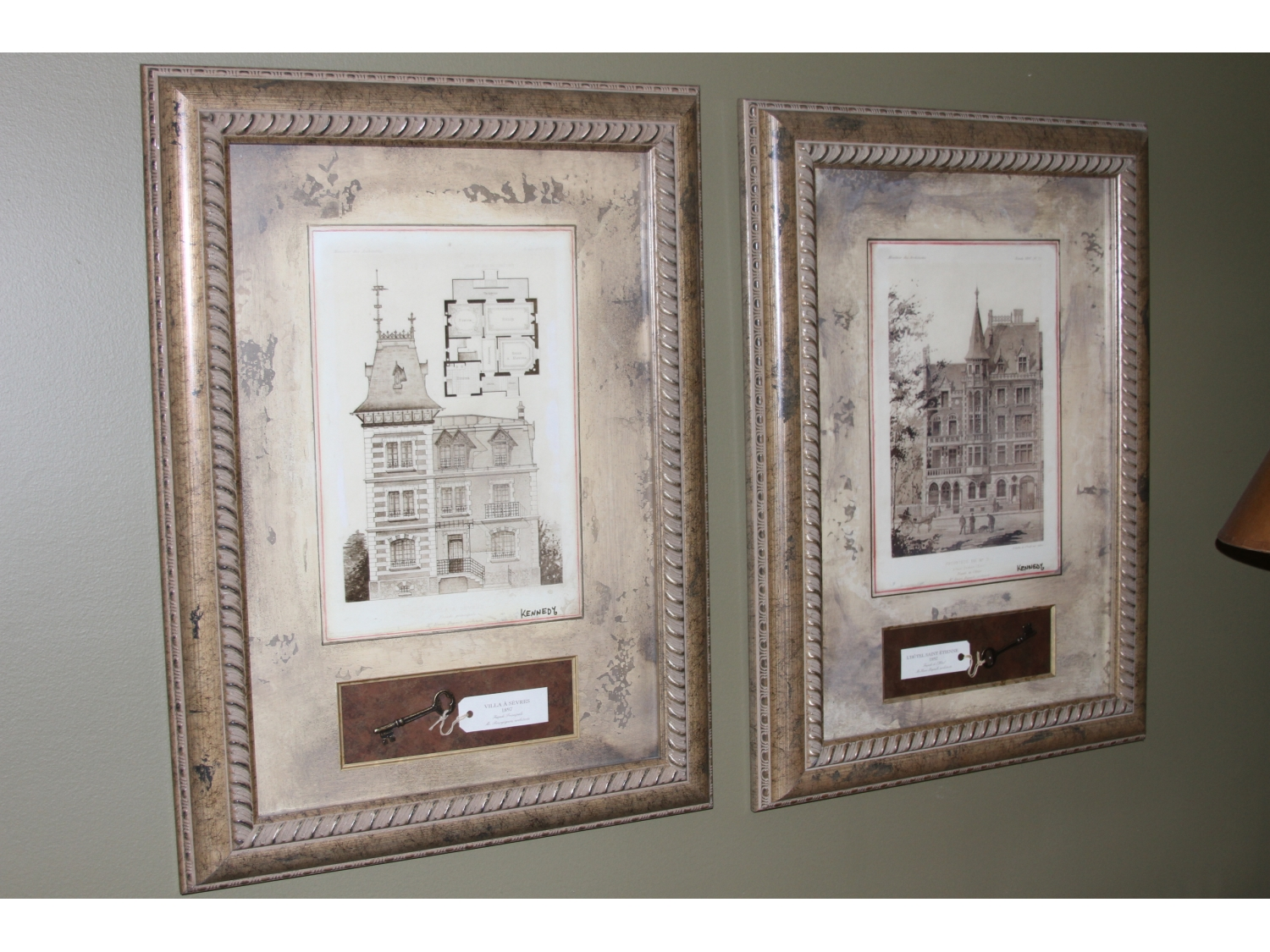 Architectural Prints Framed Pair Of Framed Architectural Prints Villa Sevres And L