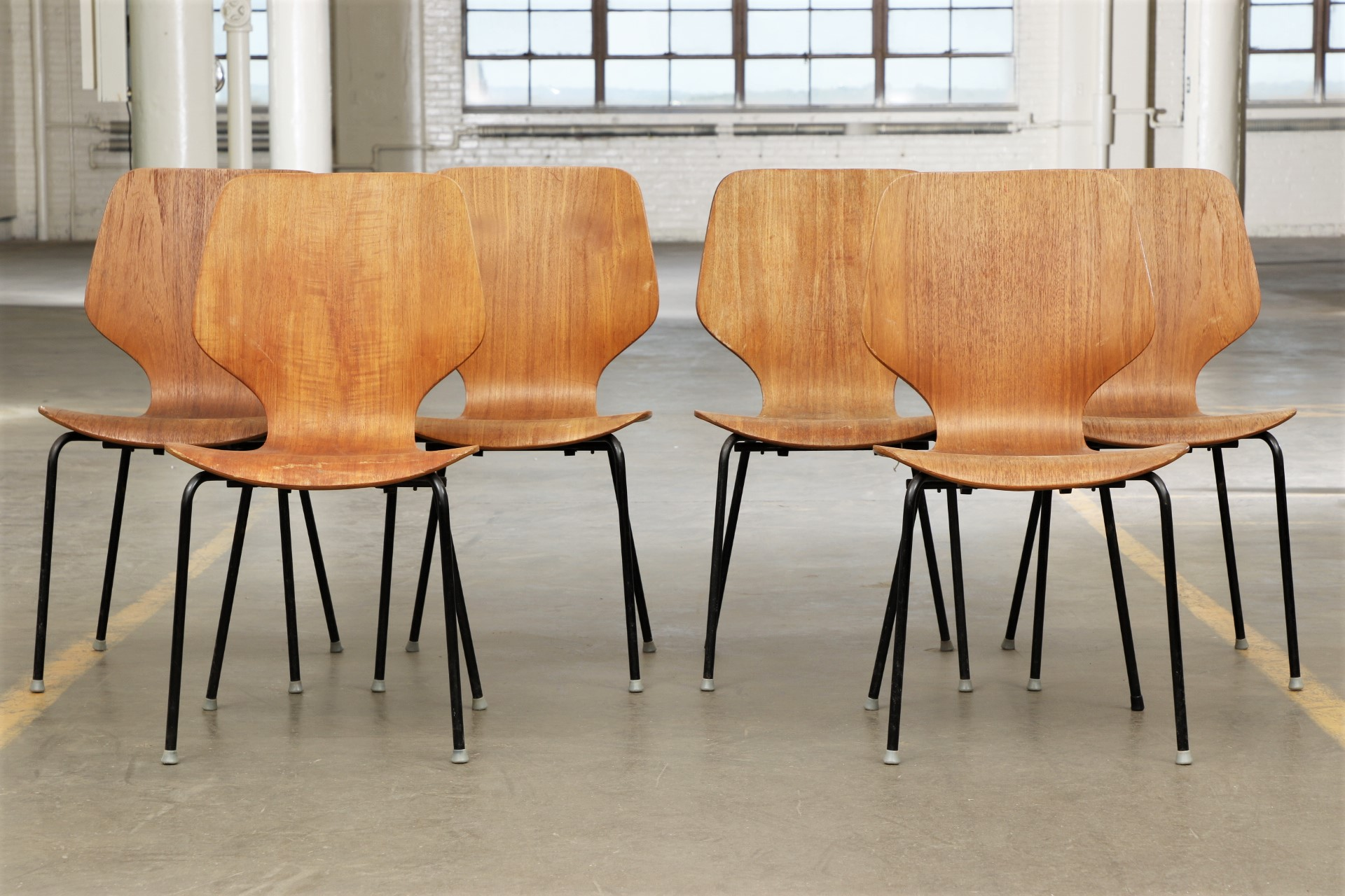 Set Of Six Bentwood Mid Century Modern Danish Chairs 68344 Black Rock Galleries