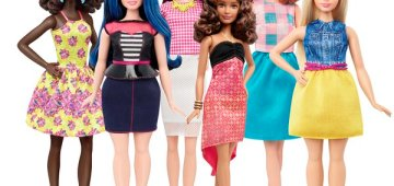 Twitter picture from Mattel showcasing the new Barbie dolls