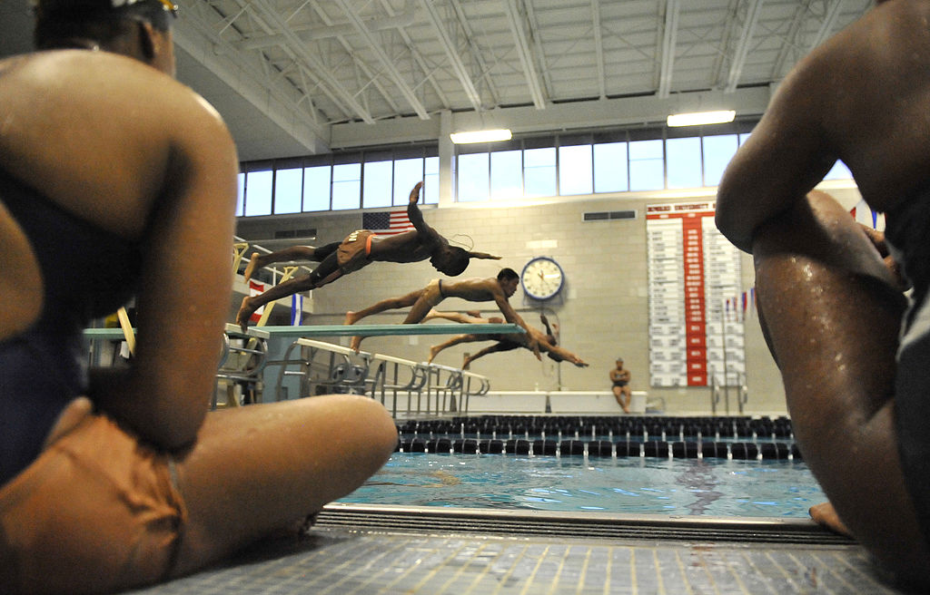 WASHINGTON, DC JANUARY 20:Members of the Howard University swim team practiced on January 20, 2011 in Washington DC.