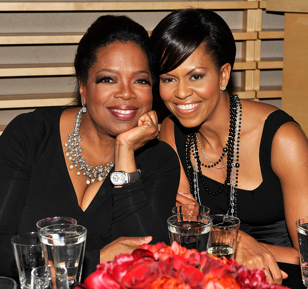 NEW YORK - MAY 05:  Oprah Winfrey and First Lady Michelle Obama attends the Time's 100 Most Influential People in the World Gala at Rose Hall - Jazz at Lincoln Center on May 5, 2009 in New York City.