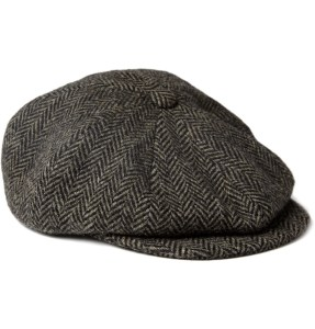 PAUL SMITH HERRINGBONE WOOL FLAT CAP