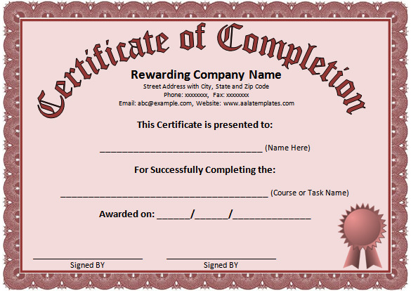 Certificate-of-Completion-Word-Templates