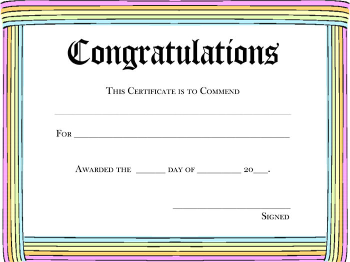 congratulations awards templates - Gottayotti - congratulations certificate templates