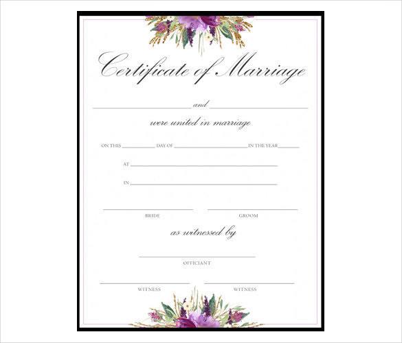 blank marriage certificates printable - Akbagreenw
