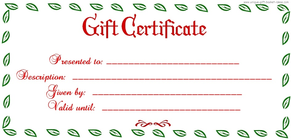 Uses for Gift Certificate Templates Blank Certificates - christmas gift certificates templates