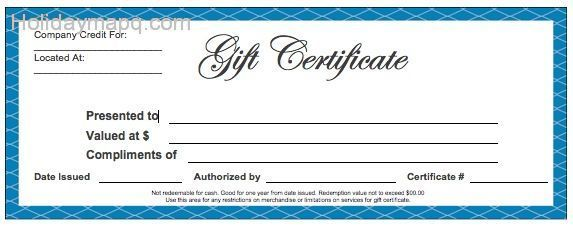 Free Gift Certificate Maker – Free Gift Certificate Template