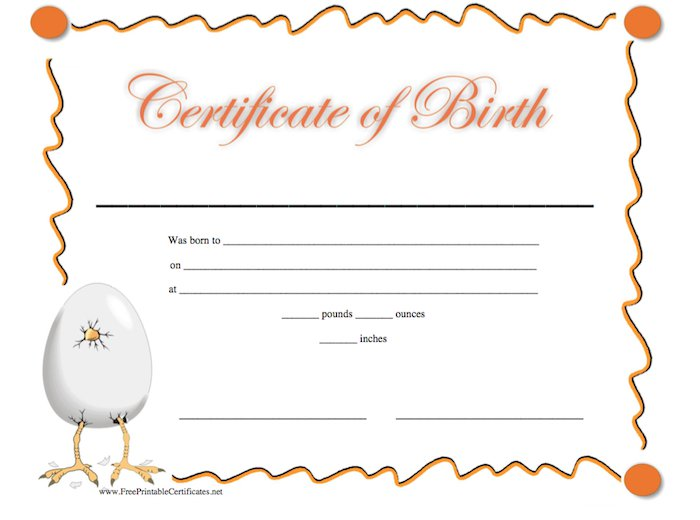 Free Printable Birthday Certificates Template