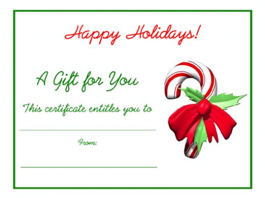download-free-gift-certificate-template-word - Christmas Certificates Templates For Word