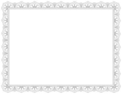 Fancy Certificate Page Boders Blank Certificates