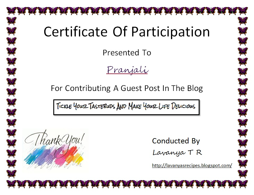 Certificate of Participation Templates Blank Certificates - certificate of participation template