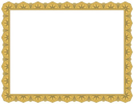 Printable DOC Certificate Borders Blank Certificates