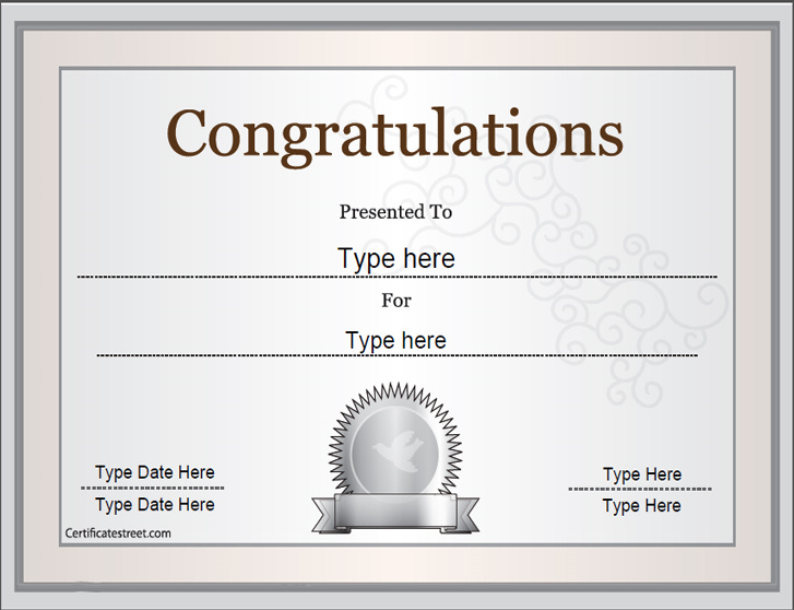 9 Printable Award Certificates Blank Certificates - awards certificates templates for word