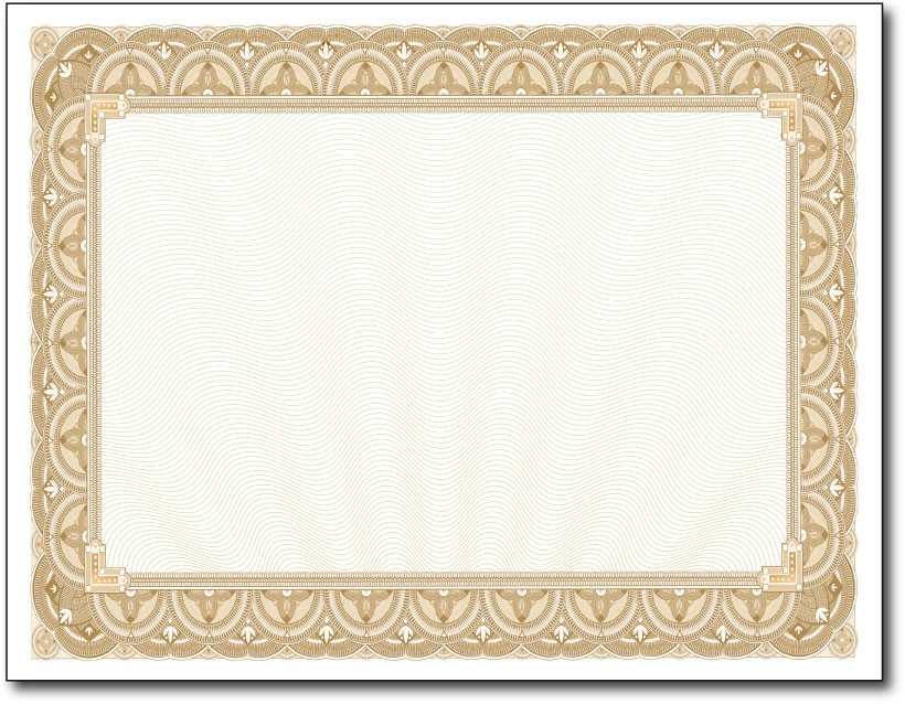 Golden Border Certificate Templates Blank Certificates - certificate border templates