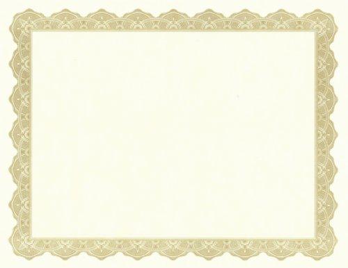 Golden Border Certificate Templates Blank Certificates - free download certificate borders