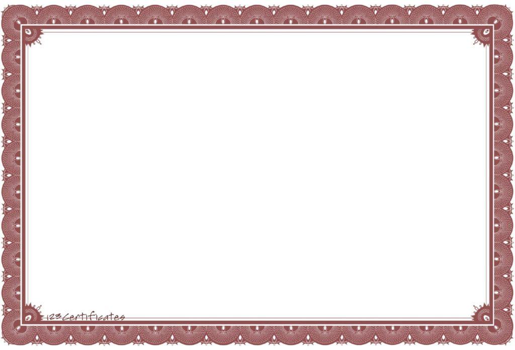 Certificate Borders For Word Howtobillybullockus