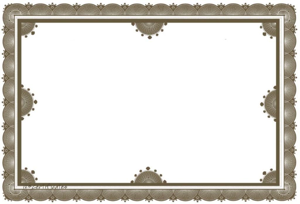 12 Editable Border Certificates Blank Certificates