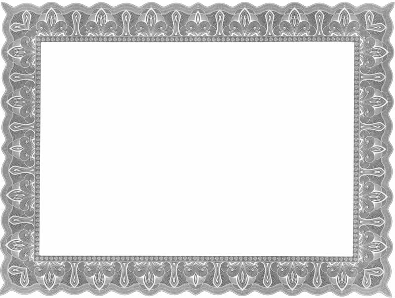 12 Fancy Certificate Border Designs Blank Certificates - certificate border templates