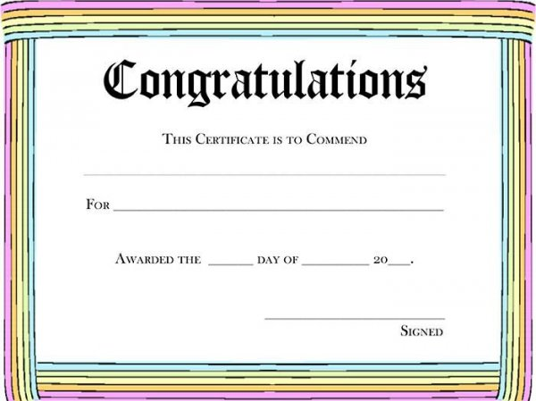 congratulations certificates templates free - Selol-ink