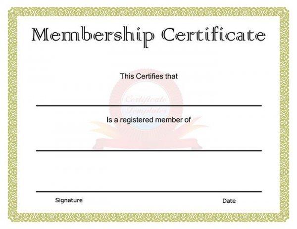 free membership certificate template - Boatjeremyeaton - membership certificate templates