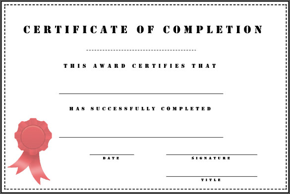 Generic-Certificate-of-Completion-free-word-pdf-psd-printable