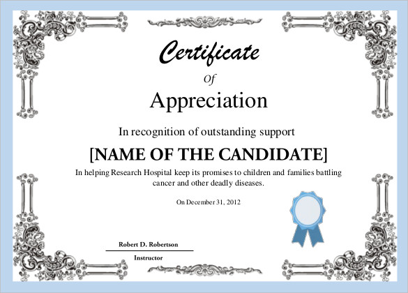 printable-sample-Free-Certificate-Template