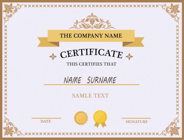 Blank Certificates - certificate template doc