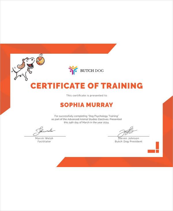 printable-blank-editable-Free-Dog-Training-Certificate-Template