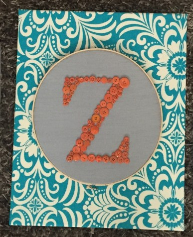 gallery wall - Z monogram