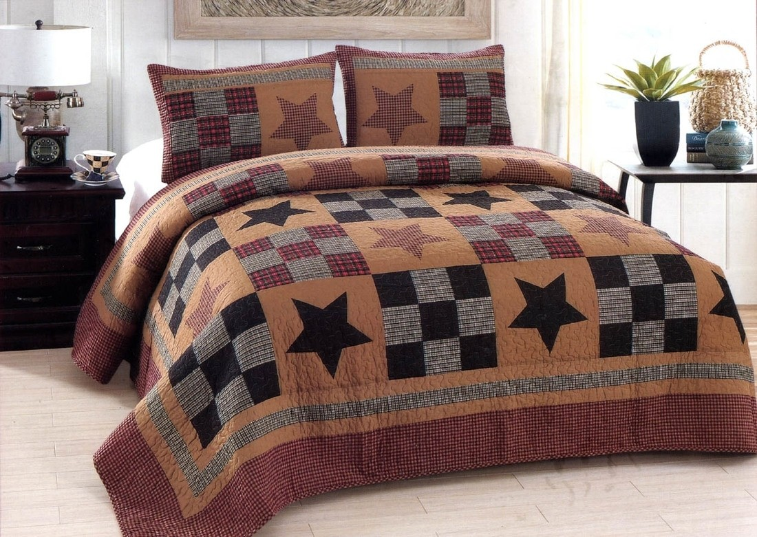 King Quilt Size Prairie Star Quilt American Hometex Quilts King Size