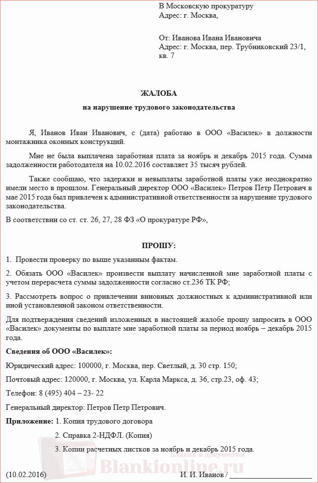 Жалоба В Транспортную Прокуратуру Образец - фото 10