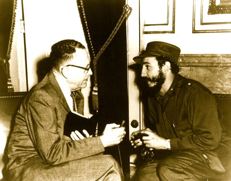 clark galloway interviewing Fidel Castro