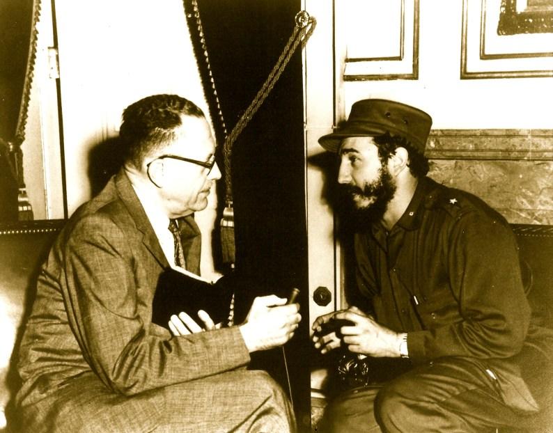 clark galloway interviewing Fidel Castro