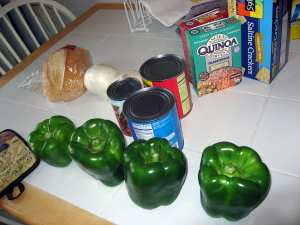Stuffed peppers are an old Italian standby.